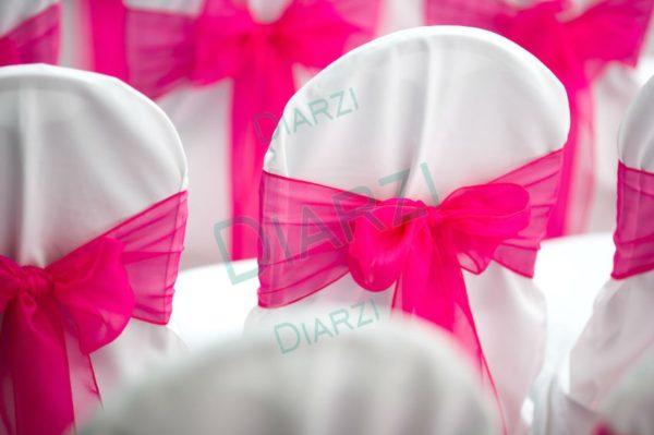 Бант розовый из ткани Вуаль