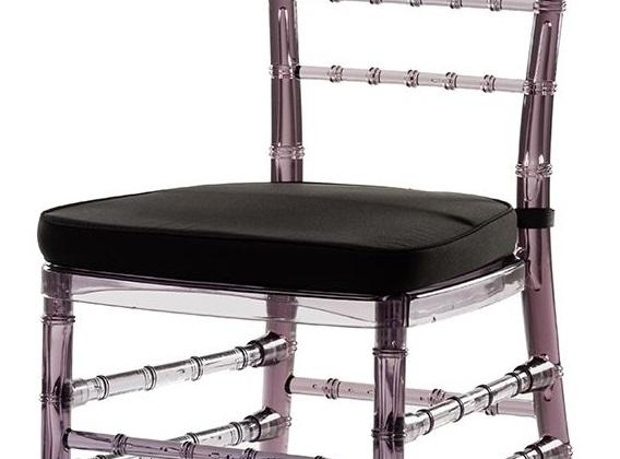 Подушки для стула с липучками черные