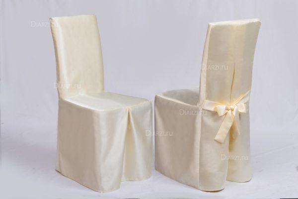 Чехол на стул шампанского цвета