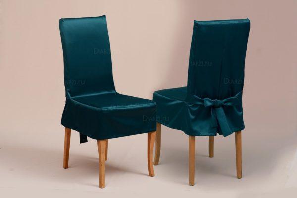 Чехол на стул Журавинка зелёный