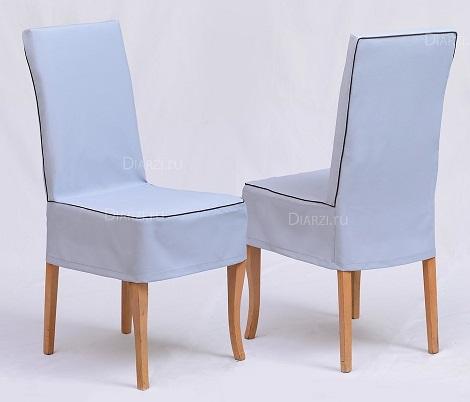 Чехол на стул светло-серого цвета