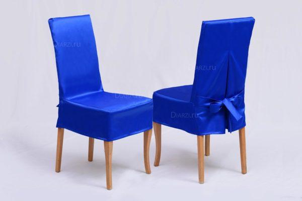 Чехол на стул из ткани Журвинка синий