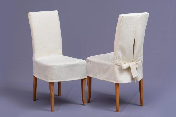 Чехол на стул молочного цвета универсальный