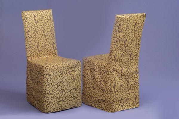 Чехол на стул золото-коричневый