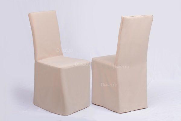 Чехлы на стулья бежевые Габардин