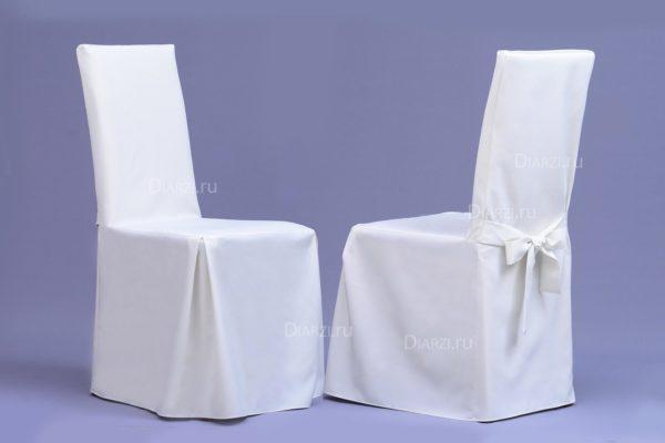 Чехол на стул молочного цвета