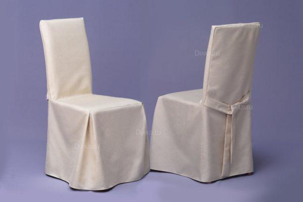 Чехол на стул светло-бежевого цвета
