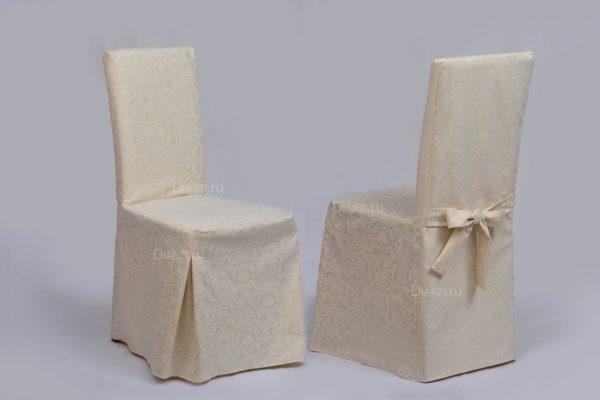 Чехол на стул светло-бежевый Журавинка