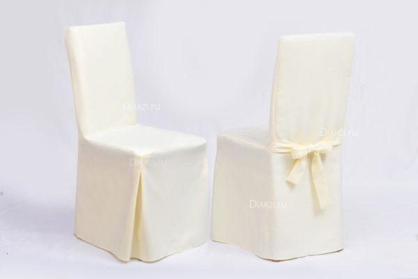 Чехлы на стулья молочные Габардин