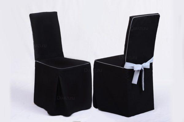 Чехол на стул черный Габардин