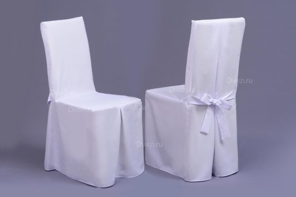 Чехол на стул белый из ткани Габардин