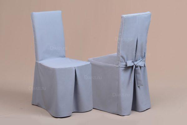 Чехлы на стулья серый Габардин