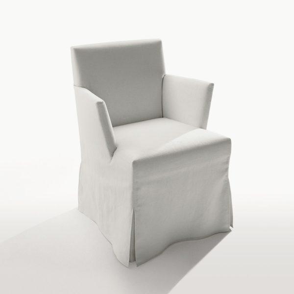Белый чехол на стул