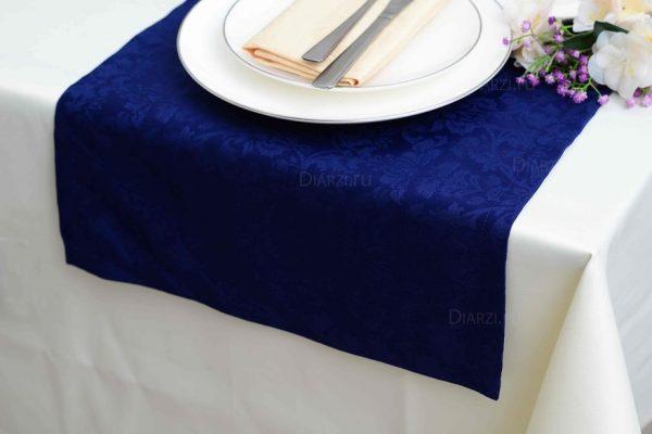 Дорожки на стол синие ткань Журавинка