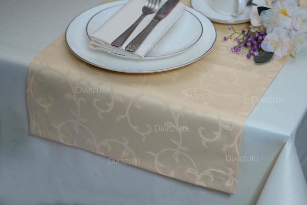 Дорожки на стол бежевые ткань Журавинка