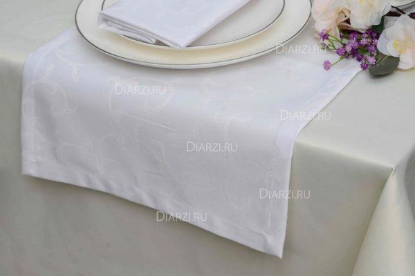 Дорожки из ткани Журавинка белые