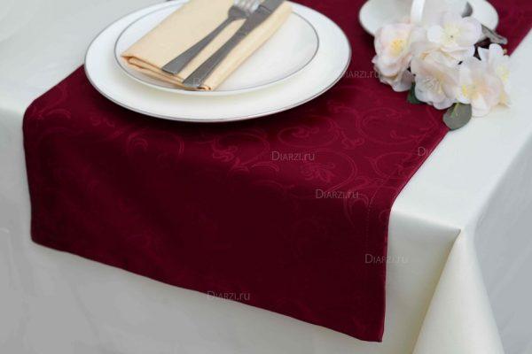 Дорожки из ткани Журавинка бордовые