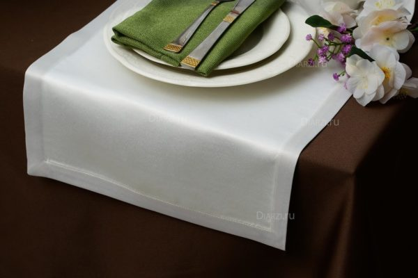 Дорожки из ткани Журавинка кремовые