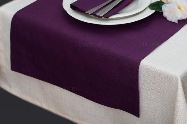 Дорожка на стол ARS сливового цвета