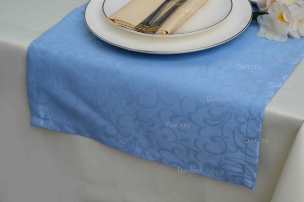 Дорожки из ткани Ричард голубые