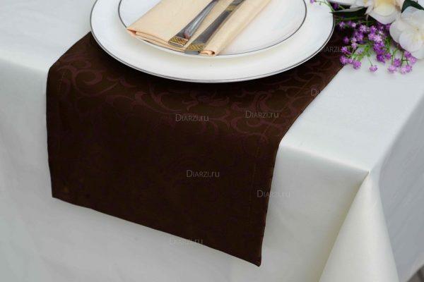Дорожки из ткани Ричард коричневые