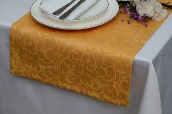 Дорожки из ткани Ричард золотые