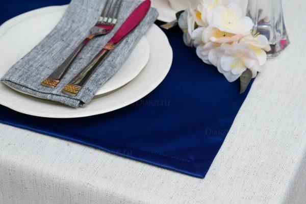 Подтарельники темно-синие ткань Ричард