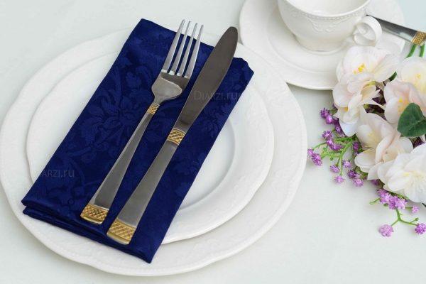 Салфетки на стол Журавинка синие