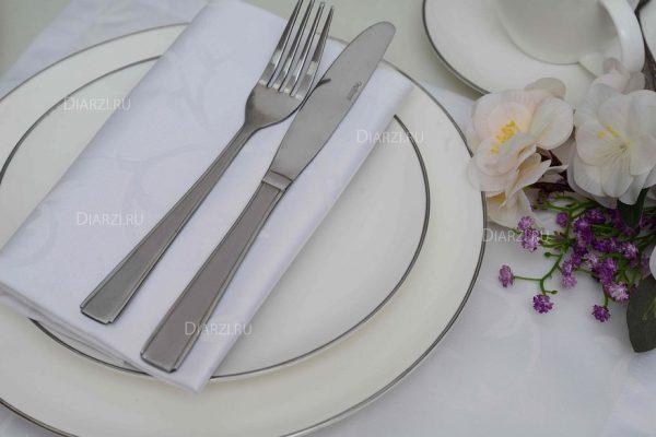 Салфетки из ткани Журавинка белые