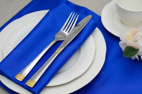 Салфетки из ткани Журавинка синие