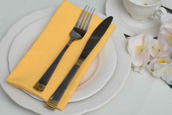 Салфетки из ткани ARS желтые