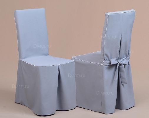 Чехол на стул Габардин серый