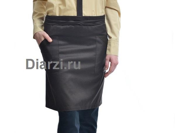 Черный фартук 40 см ткань Твил