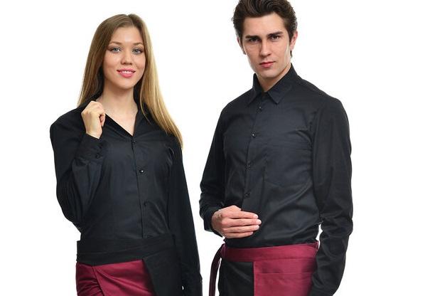 Рубашки для для официантов черные