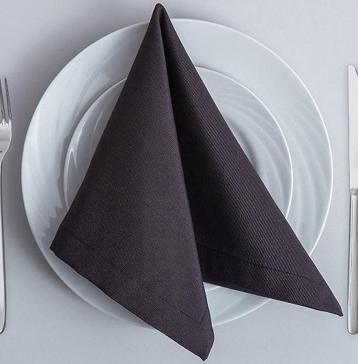 Салфетки для ресторанов из ткани ARS цвет темно серый графитовый_